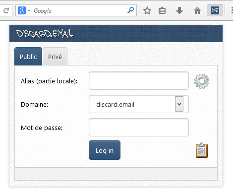 Firefox Add-on of Discard.email